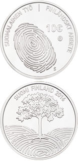 10 euro coin Finnish work | Finland 2016