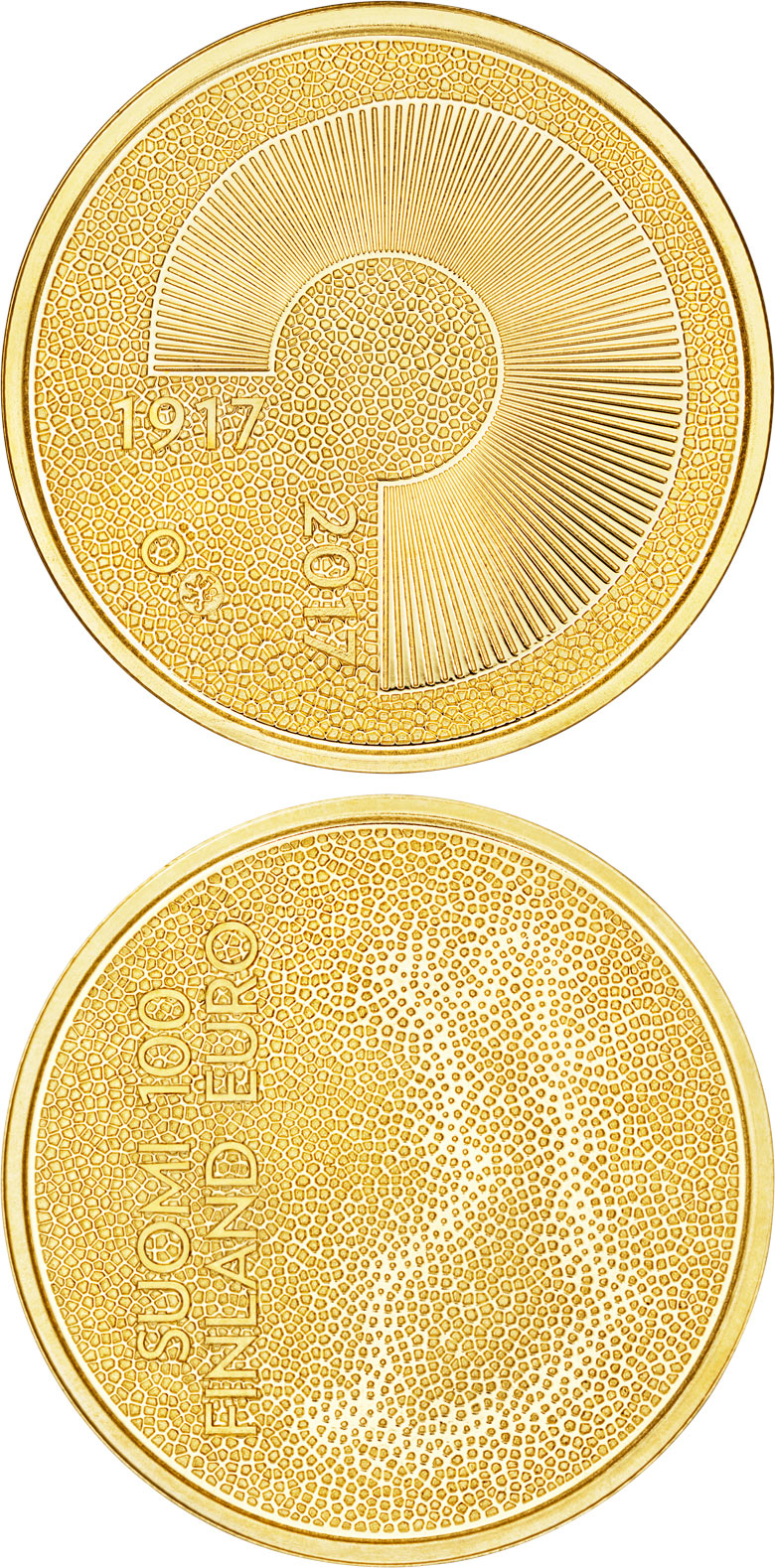 Image of a coin 100 euro | Finland | Independent Finland 100 Years | 2017
