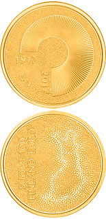100 euro Independent Finland 100 Years - 2017 - Series: Gold 100 euro coins - Finland