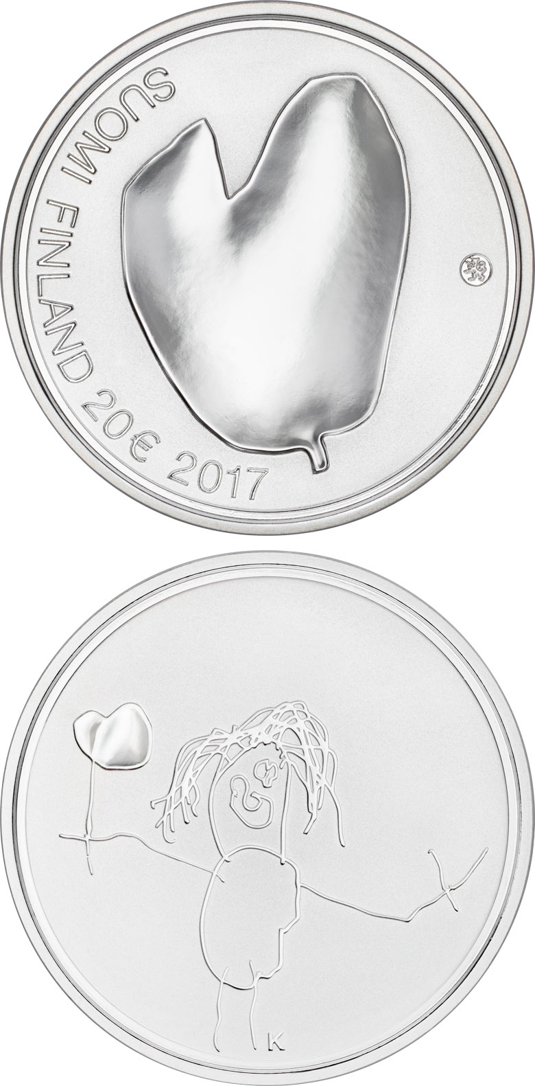 Image of a coin 20 euro | Finland | Mothers | 2017