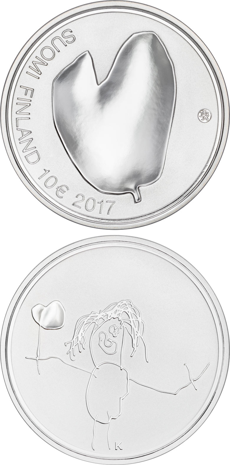 Image of 10 euro coin - Mothers  | Finland 2017