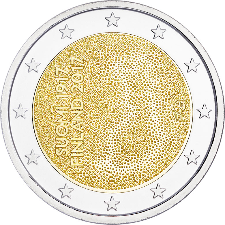 Image of 2 euro coin – Independent Finland 100 Years  | Finland 2017