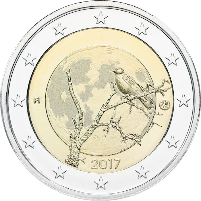 Image of 2 euro coin - Finnish nature | Finland 2017