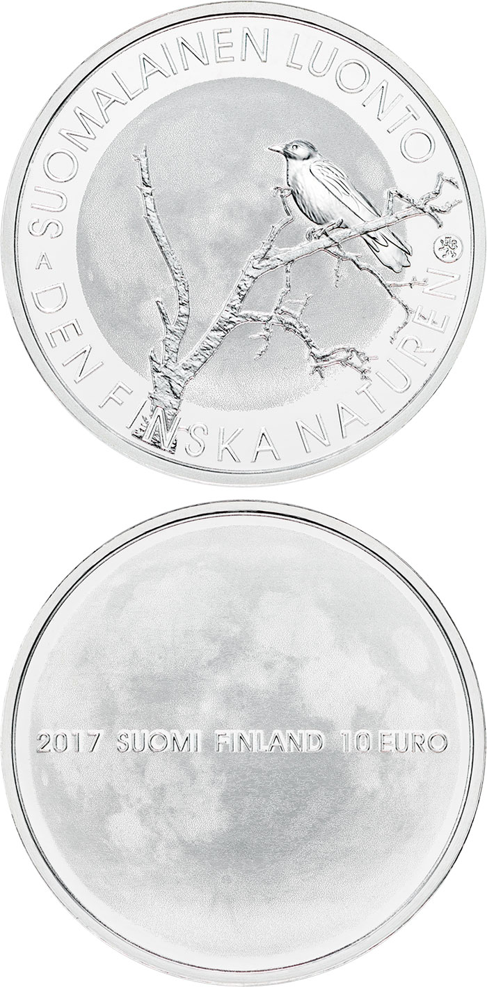 Image of 10 euro coin - Finnish nature | Finland 2017