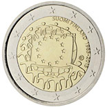 2 euro coin The 30th anniversary of the EU flag | Finland 2015