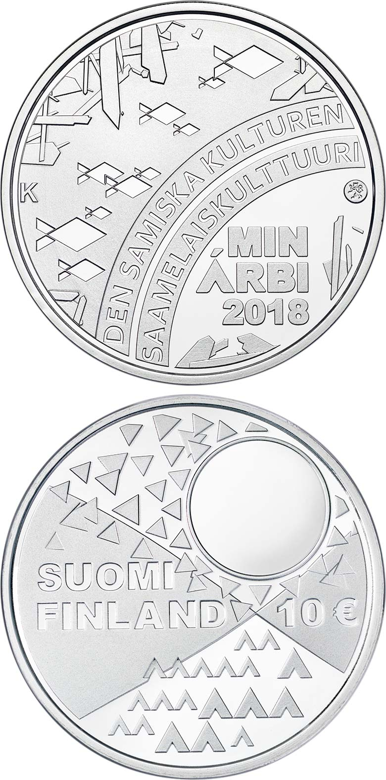 Image of 10 euro coin - The Sámi Culture | Finland 2018