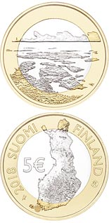 5 euro coin The Archipelago Sea | Finland 2018