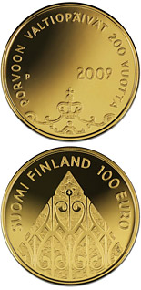 100 euro The Diet of Porvoo 200 years  - 2009 - Series: Gold 100 euro coins - Finland