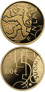 100 euro Finnish currency 150 years  - 2010 - Series: Gold 100 euro coins - Finland