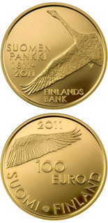 100 euro coin Bank of Finland 200 years  | Finland 2011