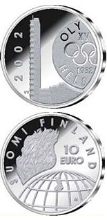 Image of 10 euro coin – Helsinki Olympic Games 50 yrs  | Finland 2002