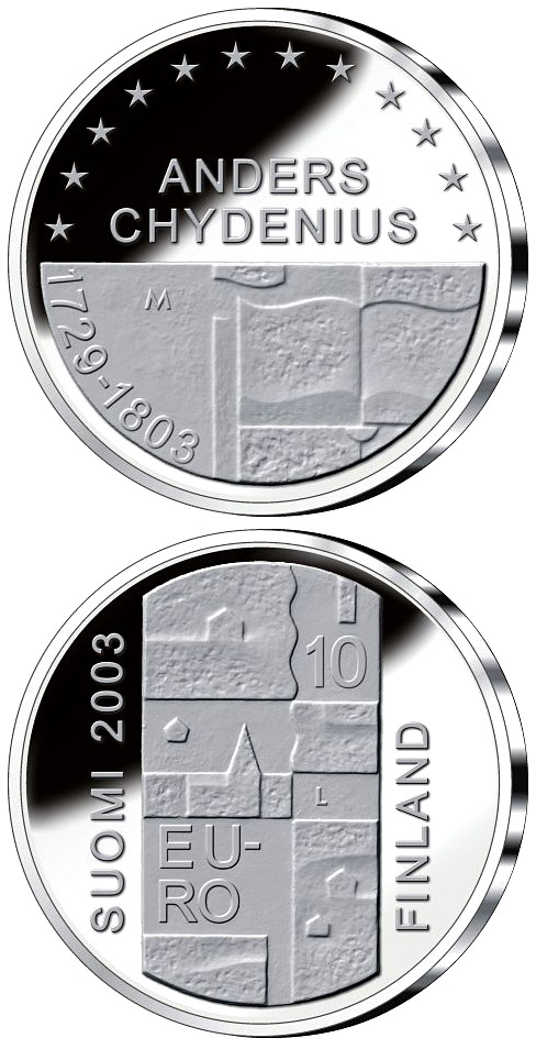 Image of 10 euro coin – Anders Chydenius  | Finland 2003