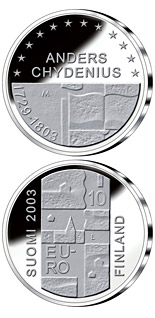 10 euro coin Anders Chydenius  | Finland 2003