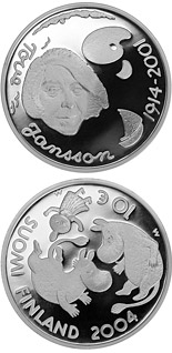 10 euro coin Tove Jansson and children's culture  | Finland 2004