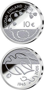10 euro coin 60 Years of Peace  | Finland 2005