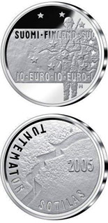 10 euro coin Unknown Soldier and Finnish film art  | Finland 2005
