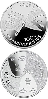 10 euro coin Parliamentary reform and general and equal suffrage 100 yrs  | Finland 2006