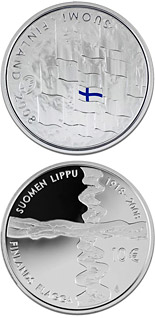 10  coin Finnish flag  | Finland 2008