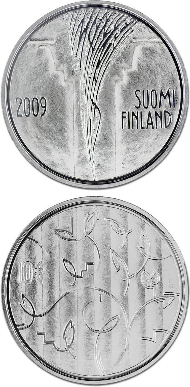 10 euro The Council of State 200 years  - 2009 - Series: Silver 10 euro coins - Finland
