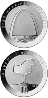 10  coin Eero Saarinen and architecture  | Finland 2010