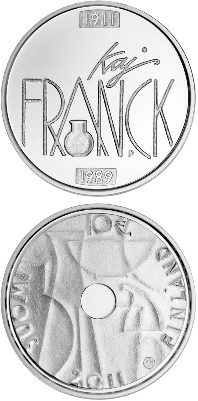 Image of 10 euro coin - Kaj Franck and Industrial Art  | Finland 2011