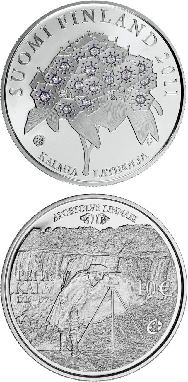 Image of 10 euro coin - Pehr Kalm and European Explorers  | Finland 2011
