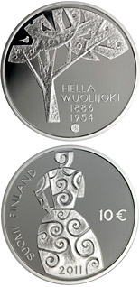 10 euro coin Hella Wuolijoki and Equality  | Finland 2011