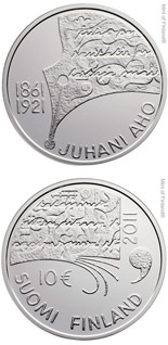 10 euro coin Juhani Aho and Finnish Literature  | Finland 2011