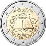 2 euro coin 50th Anniversary of the Treaty of Rome | France 2007