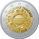 2 euro coin Ten years of Euro  | France 2012