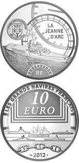10 euro The Jeanne d'Arc - 2012 - Series: Great French Ships - France