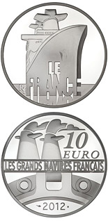 10 euro The France - 2012 - Series: Great French Ships - France