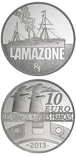 10 euro coin The Amazone | France 2013