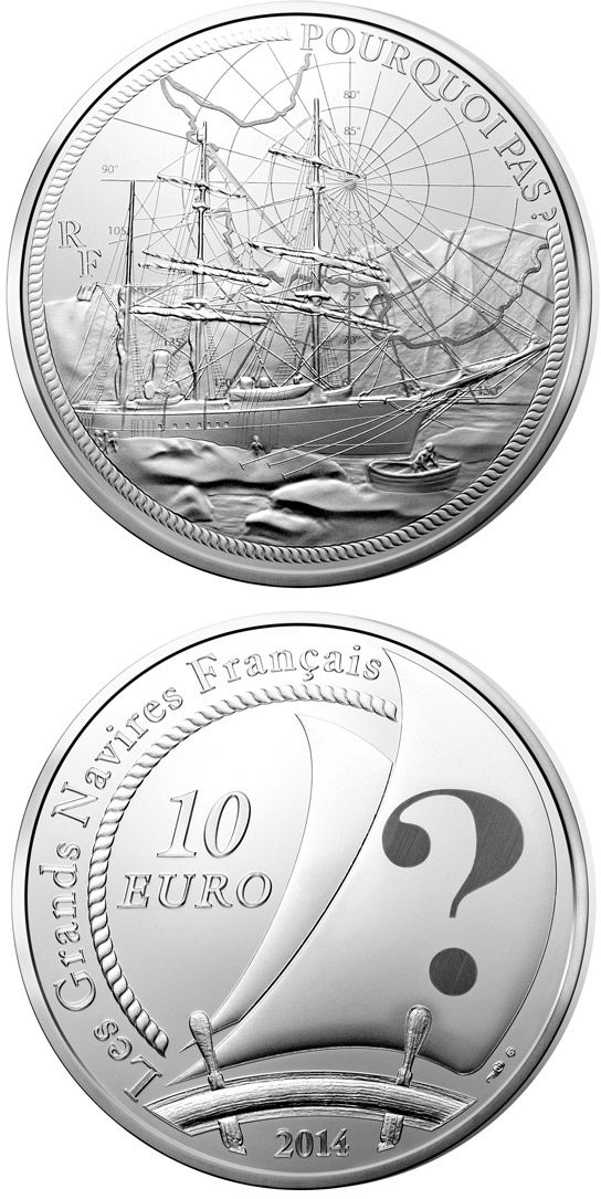 10 euro Pourquoi pas? - 2014 - Series: Great French Ships - France