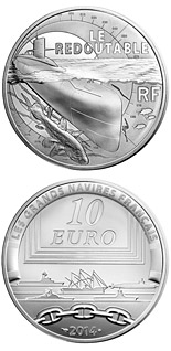 10 euro coin Redoutable | France 2014