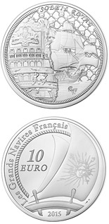 10 euro coin Soleil Royal | France 2015