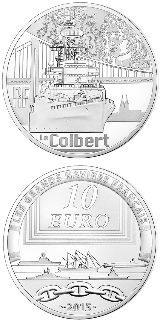 10 euro Colbert - 2015 - Series: Great French Ships - France