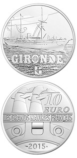 10 euro coin The Gironde | France 2015