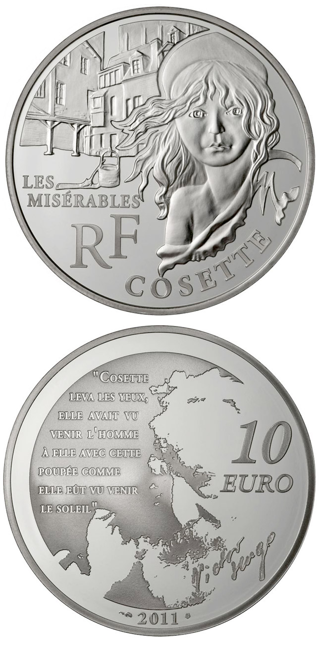 10 euro Cosette - 2011 - Series: Legendary Characters from French Literature - France