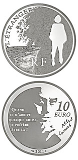 10 euro L'Etranger - 2011 - Series: Legendary Characters from French Literature - France