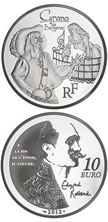 10 euro Cyrano de Bergerac - 2012 - Series: Legendary Characters from French Literature - France