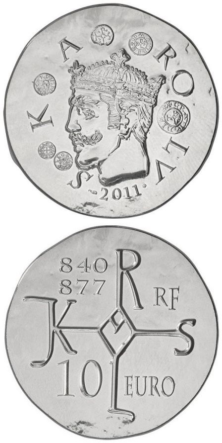 Image of a coin 10 euro | France | Charles II the Bald | 2011