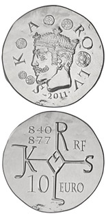 10 euro Charles II the Bald - 2011 - Series: From Clovis to the Republic, 1500 years of French History - France