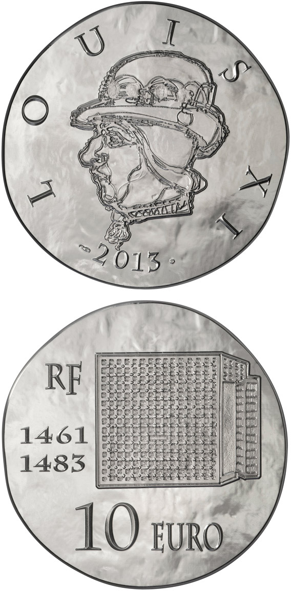 Image of 10 euro coin – Louis XI the Prudent | France 2013.  The Silver coin is of Proof quality.