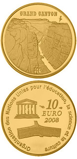 10 euro coin Grand Canyon | France 2008