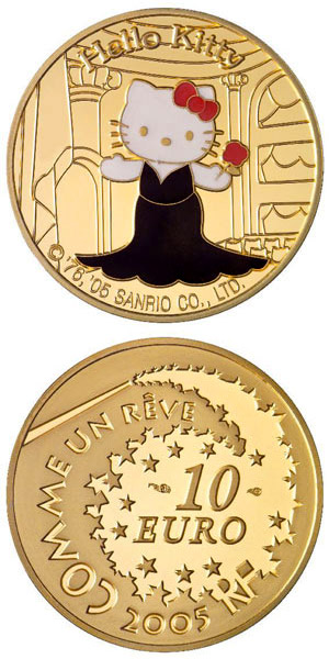 Image of Hello Kitty  – 10 euro coin France 2005