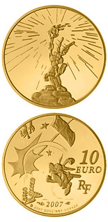 10 euro coin Asterix | France 2007