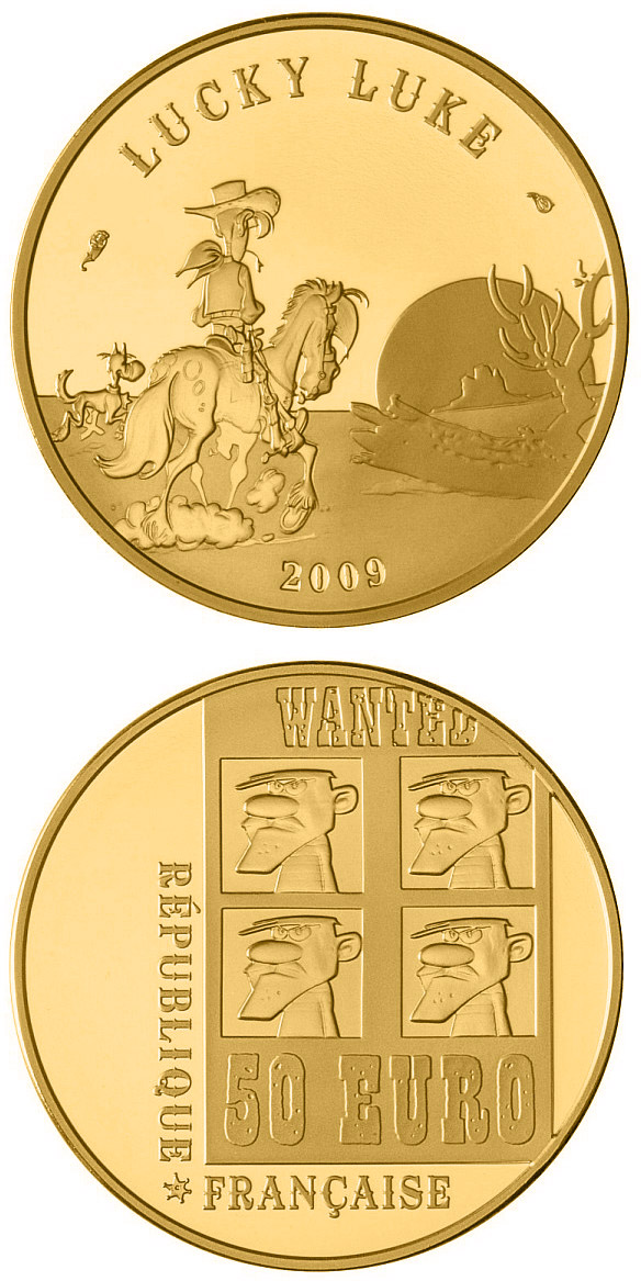 Image of a coin 50 euro | France | Lucky Luke  | 2009