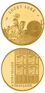 50 euro coin Lucky Luke  | France 2009