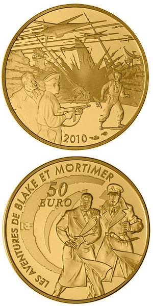 Image of a coin 50 euro | France | Blake and Mortimer | 2010